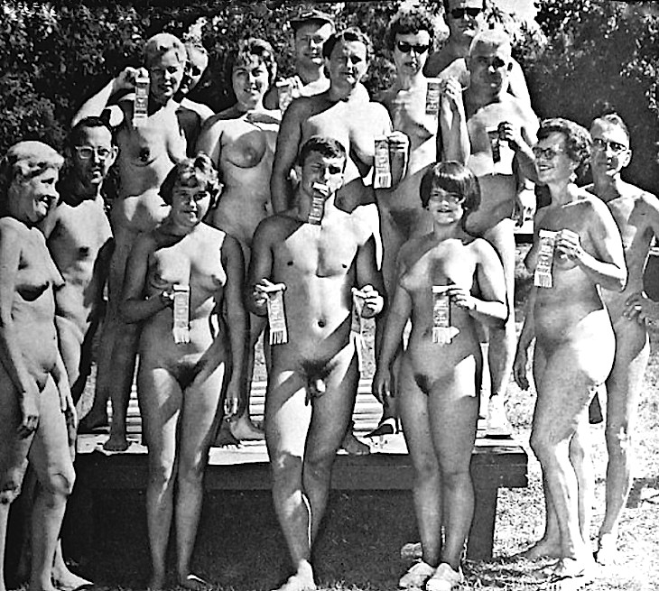 Does classic nudist camp magazines pity